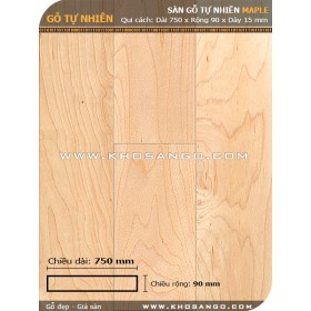 Maple hardwood flooring 750mm
