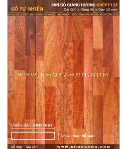 Padouk hardwood flooring FJ3T 600mm