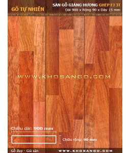 Padouk hardwood flooring  FJ3T 900mm