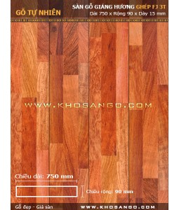 Padouk hardwood flooringFJ3T 750mm
