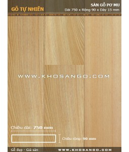 Pomu hardwood flooring 750mm