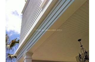 Làm ốp trần gỗ trong nhà và ngoài trời