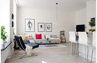 Mẫu sàn gỗ lót sàn phòng khách đẹp