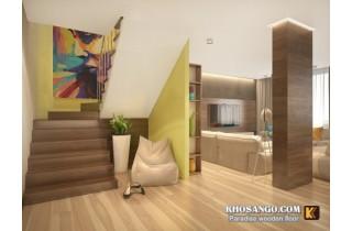Nội thất sàn gỗ đẹp như mơ của căn hộ 3 phòng ngủ