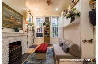 Căn hộ chung cư mang nhiều màu sắc từ sàn gỗ