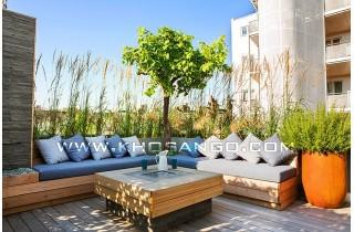Gỗ nhựa Awood trang trí sân thượng làm nơi thư giãn hoàn hảo cho gia đình