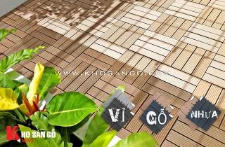Vỉ gỗ nhựa lót sàn giá rẻ, lót sàn nhà tắm, ban công, sân thượng, sân vườn, ngoài trời giá rẻ