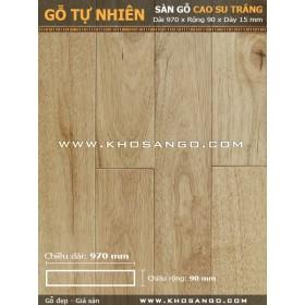Sàn gỗ cao su trắng 970mm