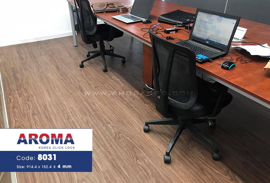 Sàn nhựa hèm khóa aroma lót sàn văn phòng