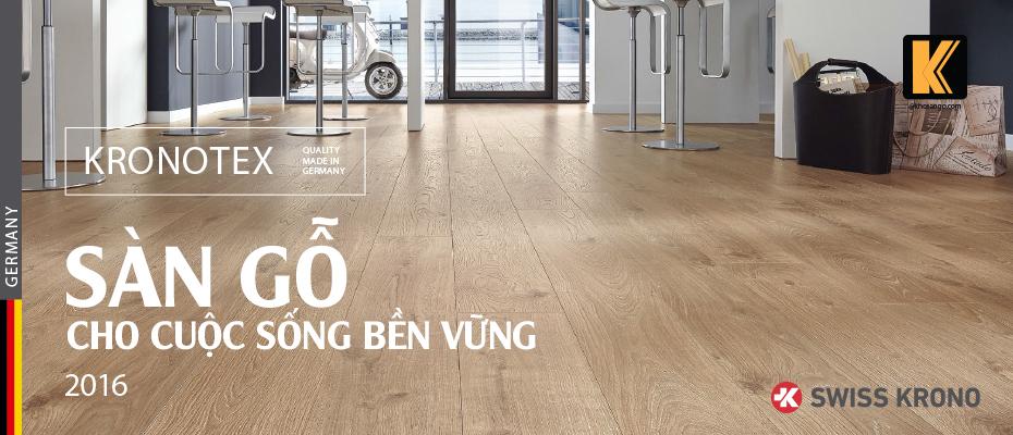 Sàn gỗ công nghiệp Kronotex - đức