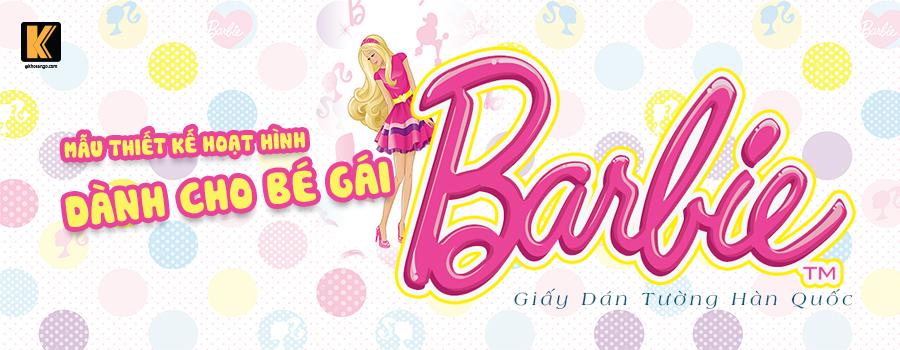 Giấy dán tường hàn quốc Barbie