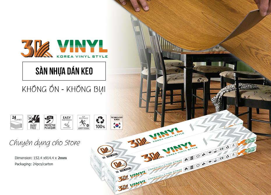 sàn nhựa giá rẻ việt nam 3k vinyl