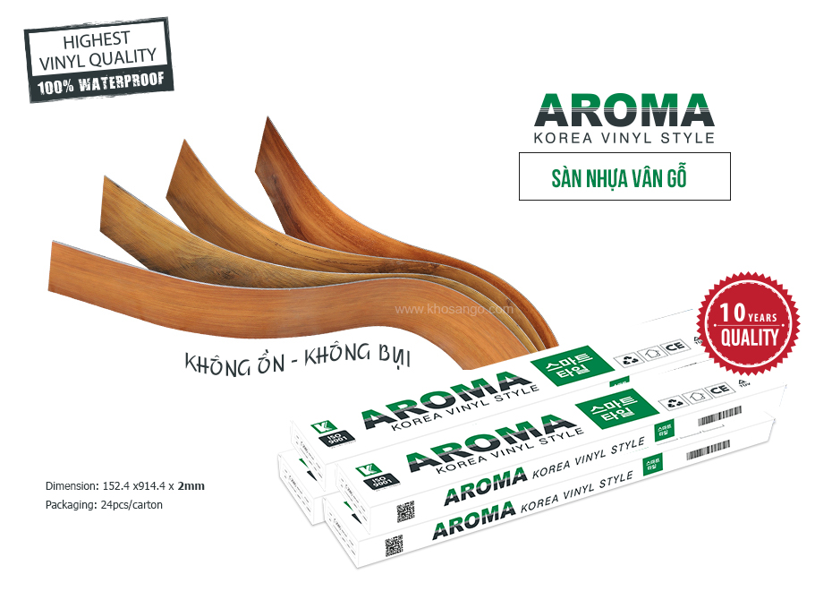 sàn nhựa vân gỗ aroma