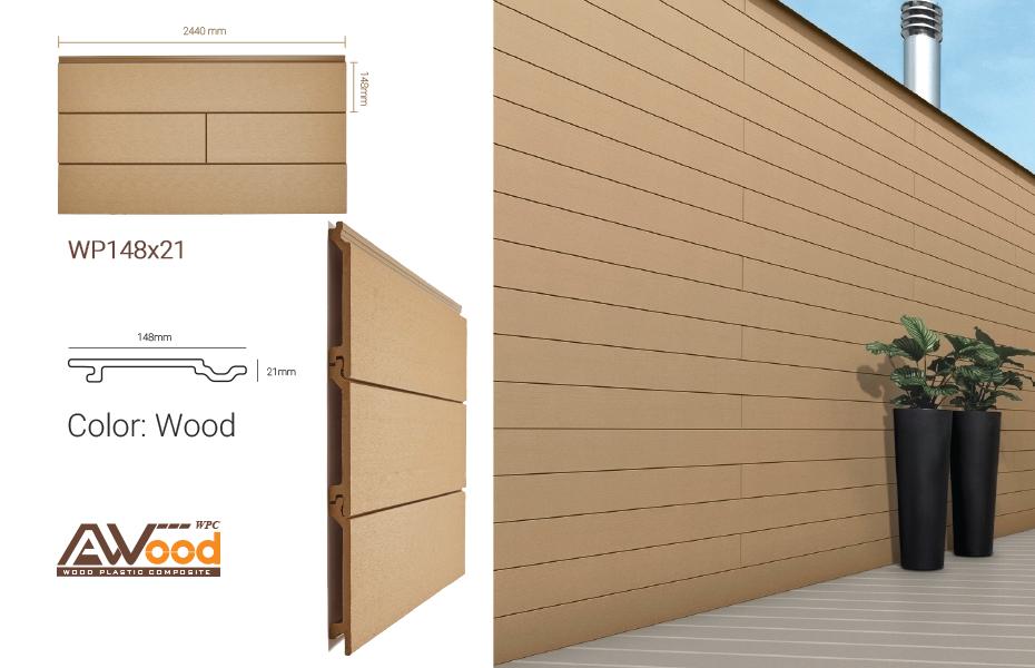 gỗ nhựa awood ốp tường trang trí