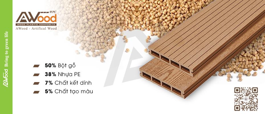 cấu tạo gỗ nhựa awood