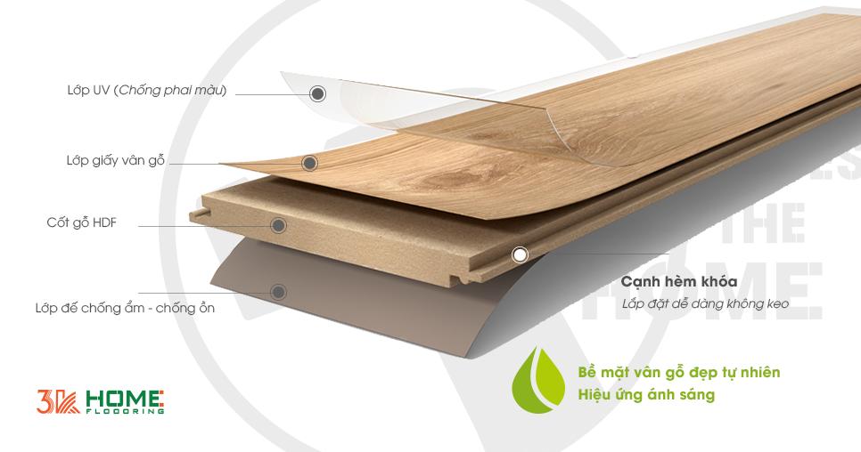 sàn gỗ việt nam 3K Home