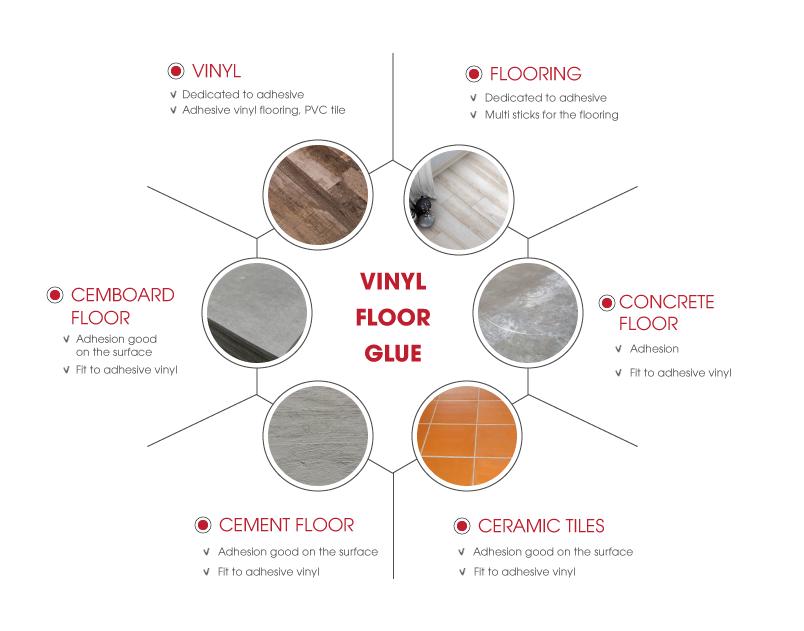 Function vinyl floor glue