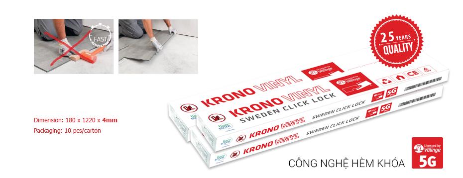 hộp vật liệu sàn nhựa krono style 4mm