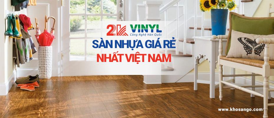 sàn nhựa giá rẻ việt nam 2K vinyl