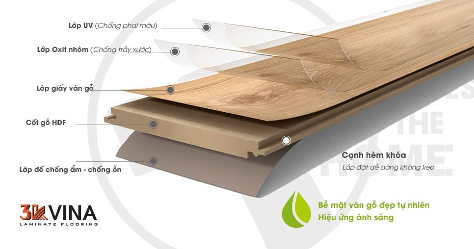 sàn gỗ việt nam 3K Vina