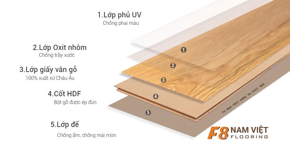 cấu tạo sàn gỗ nam việt F8