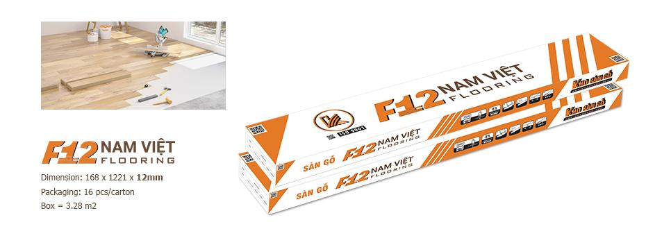 hộp sản phẩm sàn gỗ nam việt F12