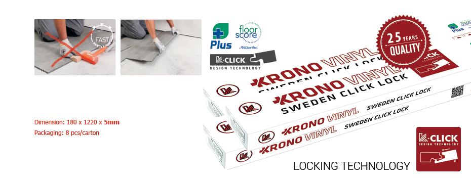 krono vinyl 5mm box