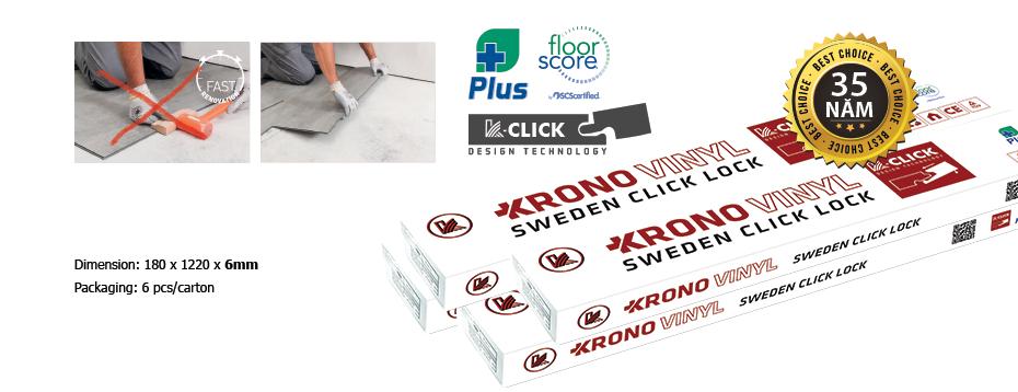 hộp vật liệu sàn nhựa krono plus+ 6mm