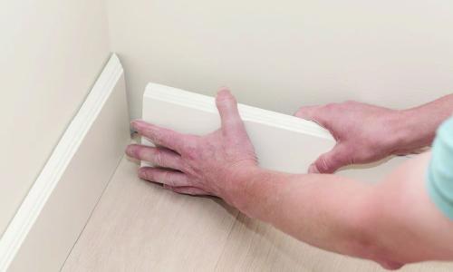 lắp đặt len tường nhựa