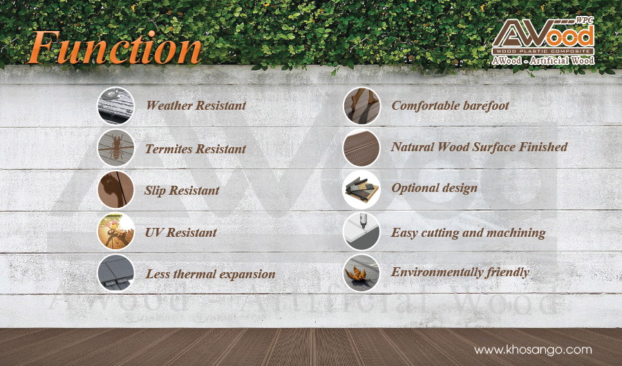 features of awood decking