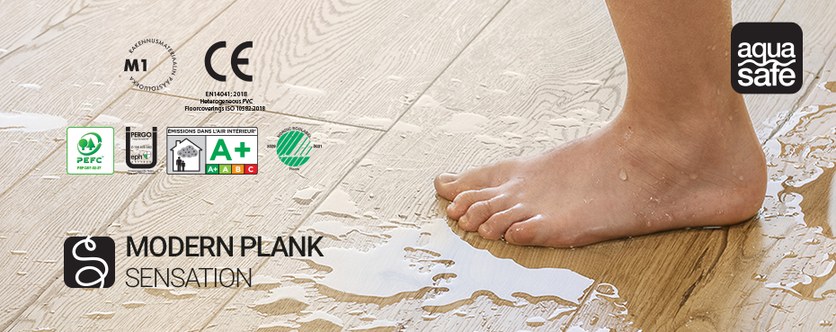 sàn gỗ pergo modern plank công nghệ aquasafe