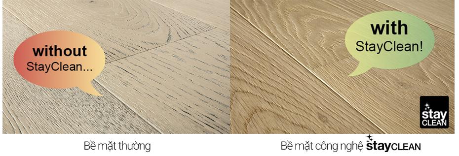 tính năng stayclean sàn gỗ pergo parquet