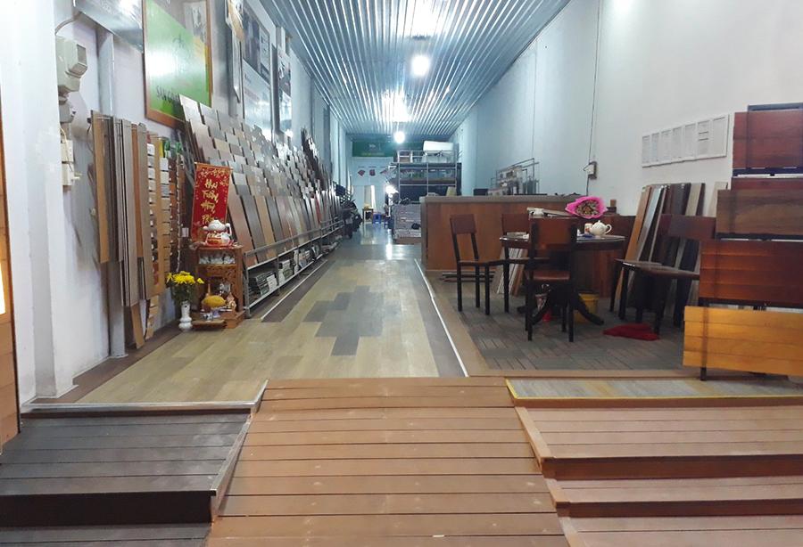 cửa hàng kho sàn gỗ tại bình dương