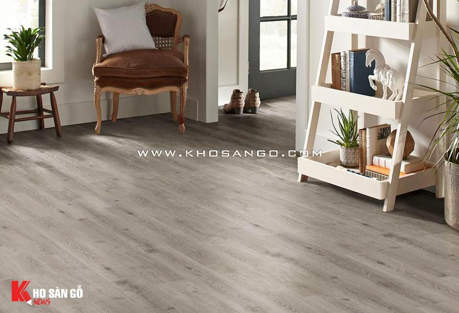 Sàn nhựa PVC vân gỗ cho không gian sàn ấm áp.