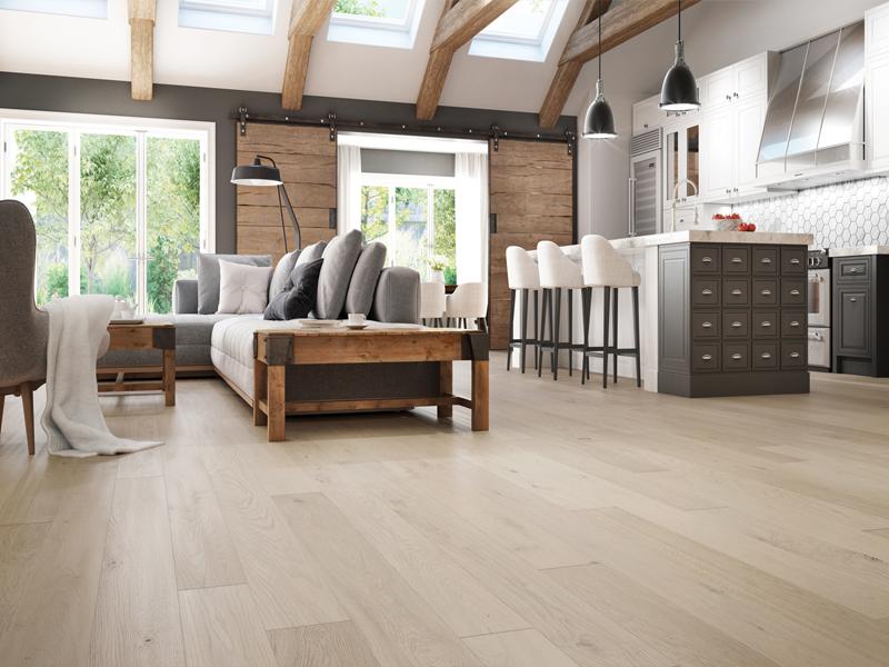 Lót sàn gỗ cho không gian gia đình ấm cúng sang trọng.