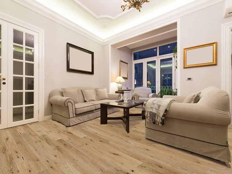 Sàn gỗ đa dạng vân gỗ cho không gian gia đình gần gũi thiên nhiên.