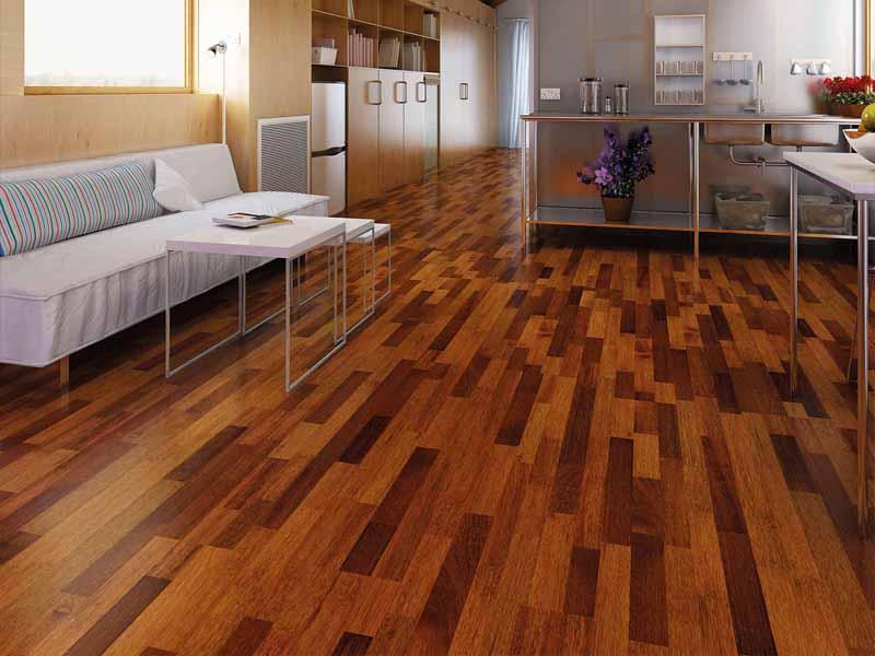 Sàn gỗ tự nhiên nâng tầm đẳng cấp không gian gia đình.