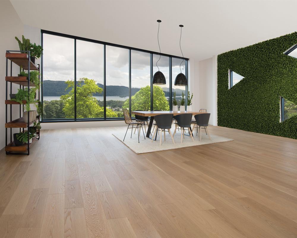 Sàn gỗ Dreamlux dày 12mm cao cấp chịu ngập nước toàn phần hiệu quả.