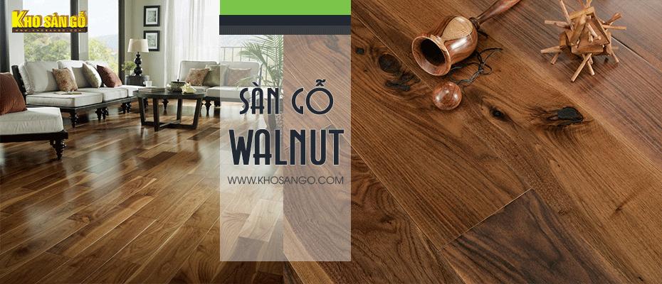 sàn gỗ tự nhiên walnut