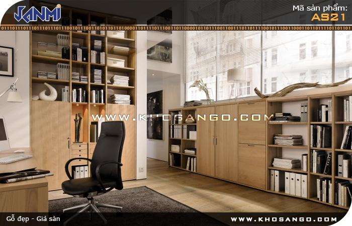 Sàn gỗ JANMI AS21- Lót sàn gỗ phòng làm việc