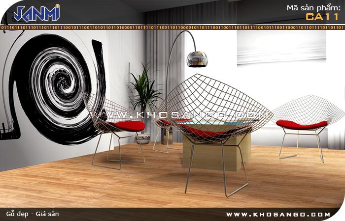Sàn gỗ JANMI CA11- Lót sàn gỗ phòng khách