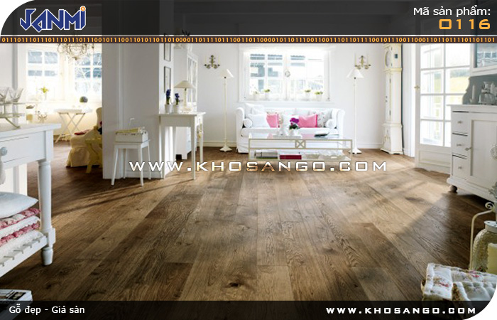 Sàn gỗ JANMI O116 12mm - Lót sàn gỗ phòng khách