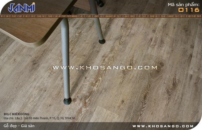 Sàn gỗ JANMI O116 -  Lót sàn gỗ phòng làm việc