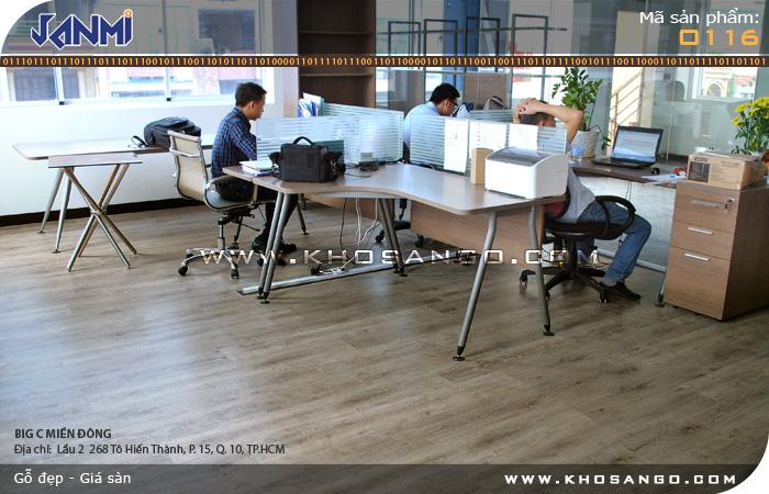 Sàn gỗ JANMI O116 12mm - Lót sàn gỗ phòng làm việc
