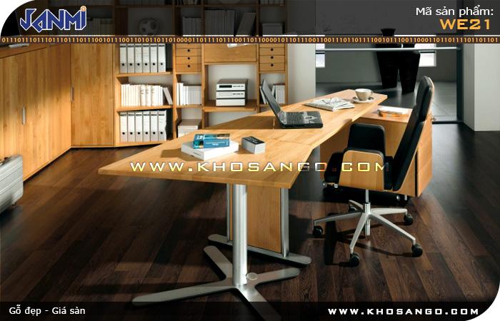 Sàn gỗ JANMI WE21 -  Lót sàn gỗ phòng làm việc