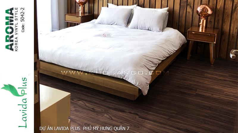 sàn nhựa aroma 5042-2  lót sàn dự án Lavida