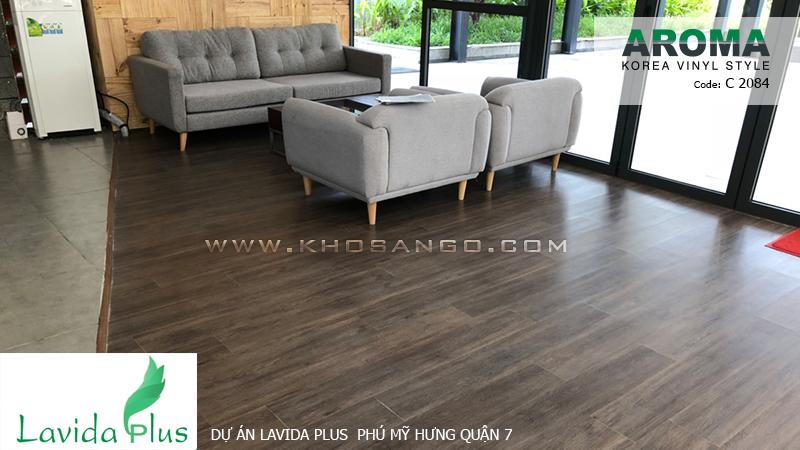 sàn nhựa aroma C2084 lót sàn dự án Lavida