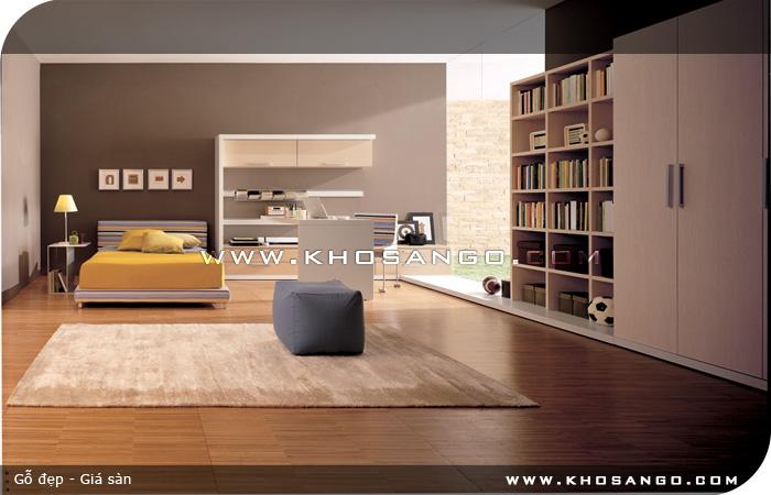 Sàn gỗ lót sàn phòng ngủ