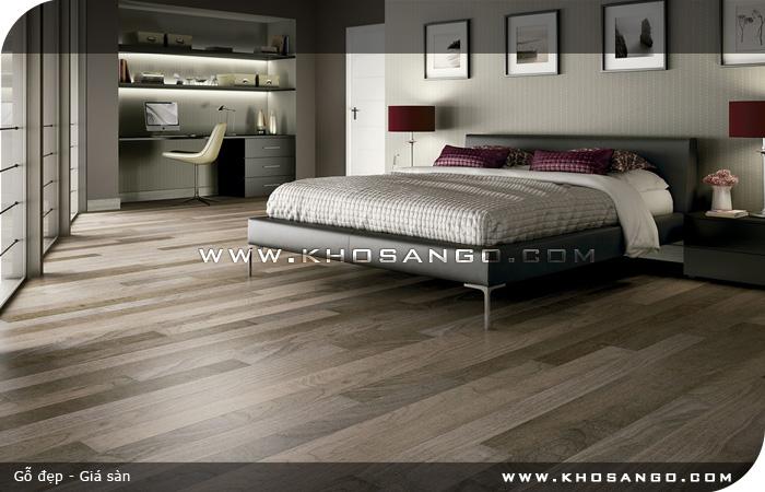 Sàn gỗ JANMI W26- Lót sàn gỗ phòng ngủ
