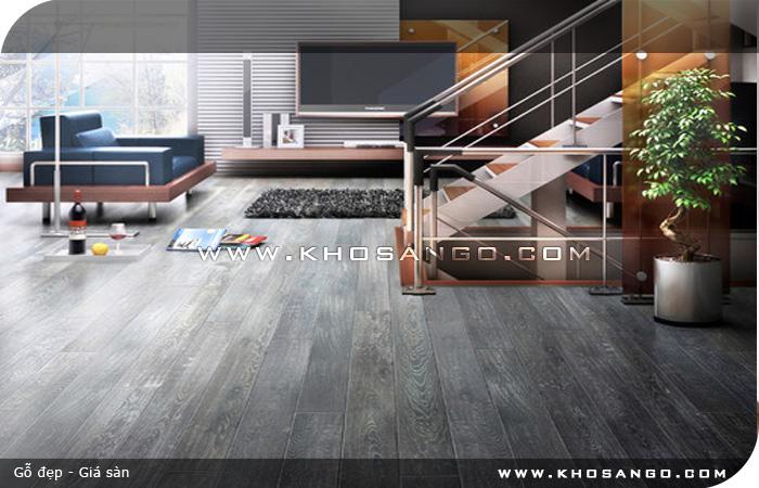 Sàn gỗ JANMI O19 lót sàn gỗ phòng khách